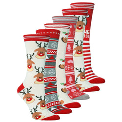 Christmas print socks set of 5 pairs
