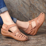 PU leather sandals for women