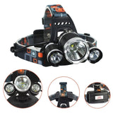 Super bright rechargeable headlamp