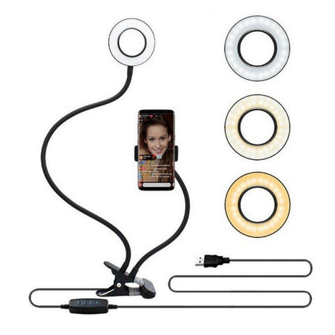 Selfie ring lights with clip