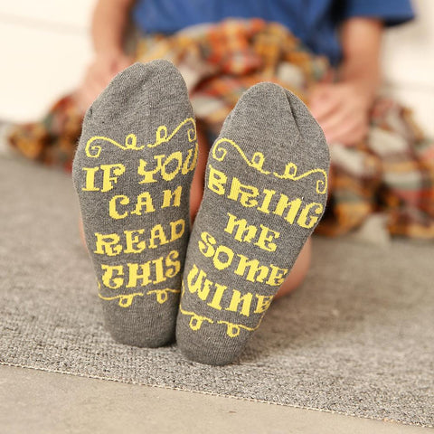 Bring me some wine humour socks