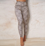 Leopard print push up leggings