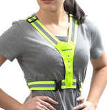 LED light reflective running vest