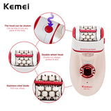 Kemei 3 in 1 electric epilator hair remover & pedicure machine