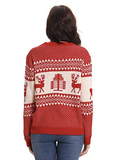 Knitted Christmas sweater for women