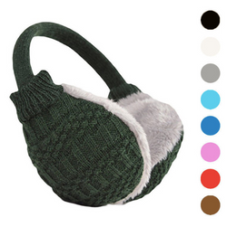 Knitted warm plush earmuffs