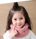 Knitted roll scarf for kids