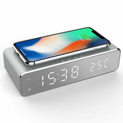 2 in 1 LED alarm clock & wireless charging station