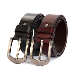 Cowskin leather belt for men