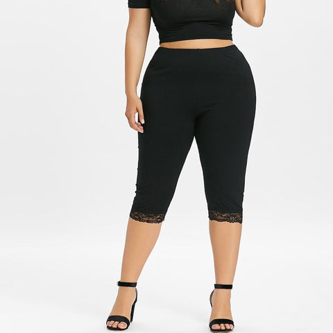 Womens plus-size lace leggings
