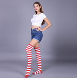 Striped long stocking socks 3 pairs