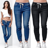 Loose casual jeans trousers