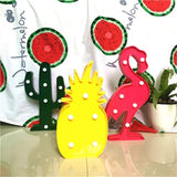3D LED flamingo pineapple cactus lamps