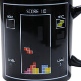 Magic color changing tetris mug