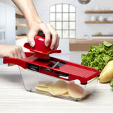 Vegetable slicer with 6 steel blades