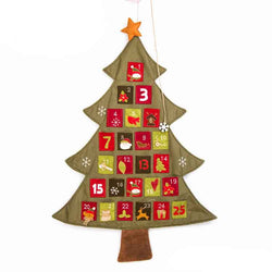Christmas advent calendar tree