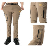 Outdoor hiking quick dry pants with detachable legs