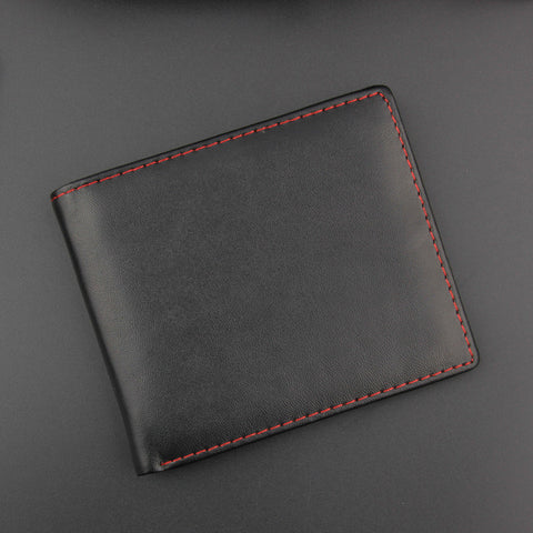 Vintage style stitched wallet for men