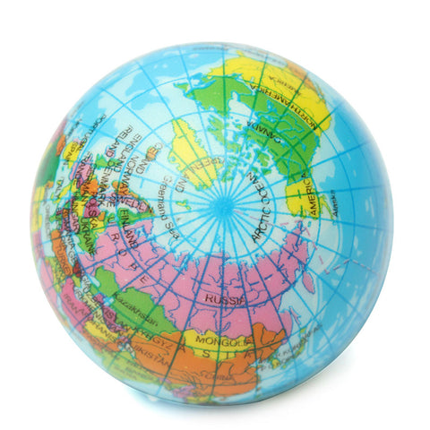 Earth world map foam stress ball turbodealz earth world map foam stress ball gumiabroncs Image collections