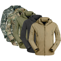 Waterproof and windproof military tactical jacket for men