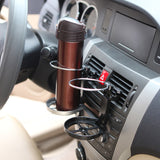 Clip on car mount cup holder