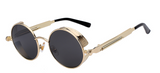 Round retro steampunk sunglasses