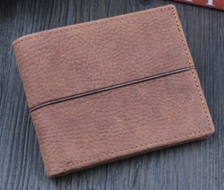 Vintage leather wallet for men