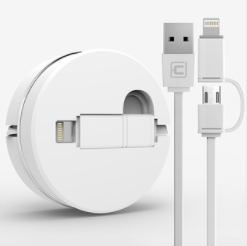 2 in 1 retractable USB charging cable for smart phones
