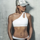 One shoulder strap sports bra