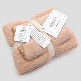 Coral velvet towel set
