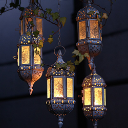Moroccan style hanging tea light holder