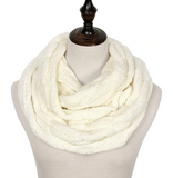 Knitted ring scarf for women