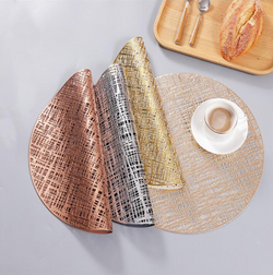 Round heat protection non-slip placemat set