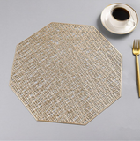 Octagonal heat protection non-slip placemat set