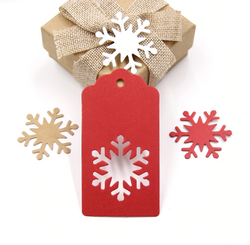 Christmas paper tags set of 50 pcs