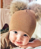 Beanie hat with puffy ears for toddlers