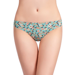 Floral print panties and G-string