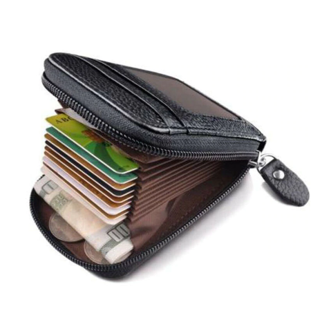 Unisex RFID blocking credit card holder