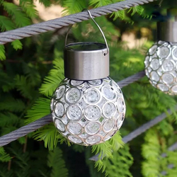 1 or 2 pcs LED solar hanging lamp