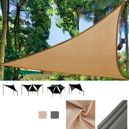 Outdoor triangle sun shelter