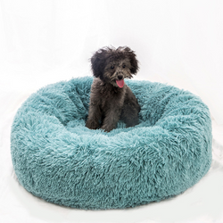 Soft warm plush pet bed