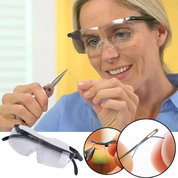 Unisex design 250 degree magnifying glasses