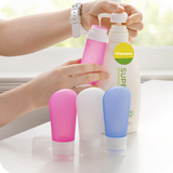 Silicone cosmetics refillable bottles set