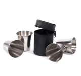 Stainless steel travel cups with bag