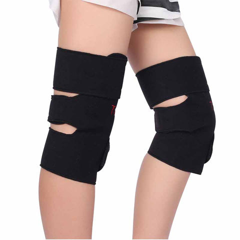 Self-heating knee support band