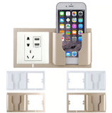 Wall mounted phone charger bracket