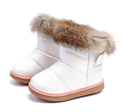 Warm plush boots for girls