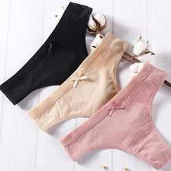 Women cotton thong 3pack