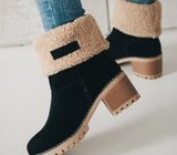 Thick heel winter boots