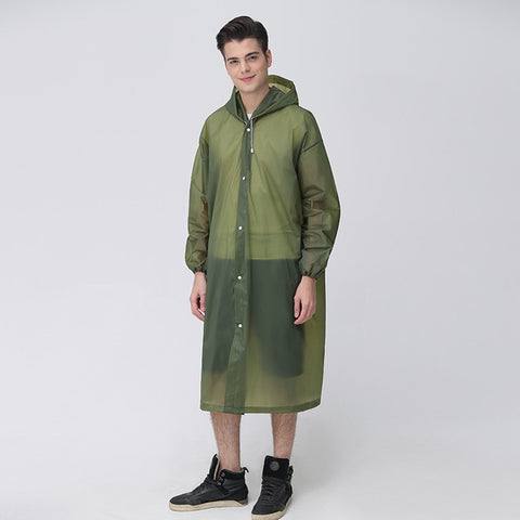 Unisex transparent raincoat